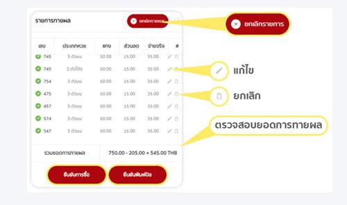 ตรวจสอบบิลแทงหวยหุ้นไทย